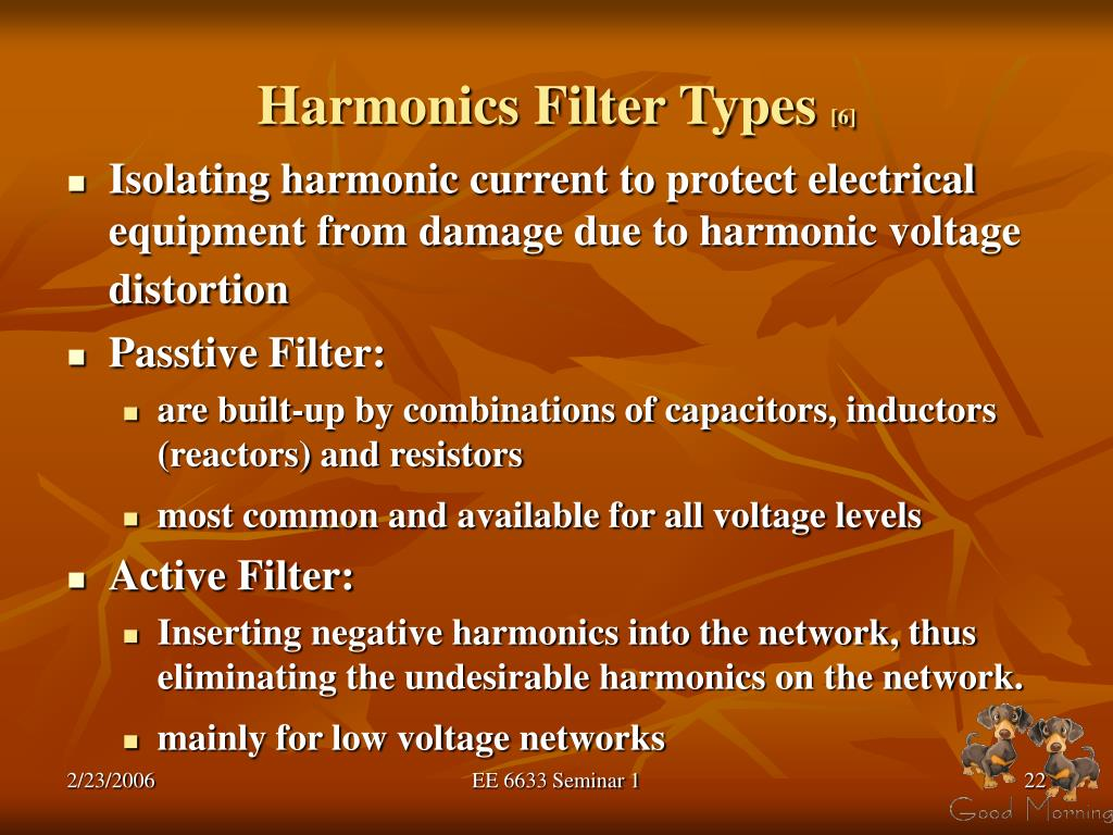 Harmonics Filter Types