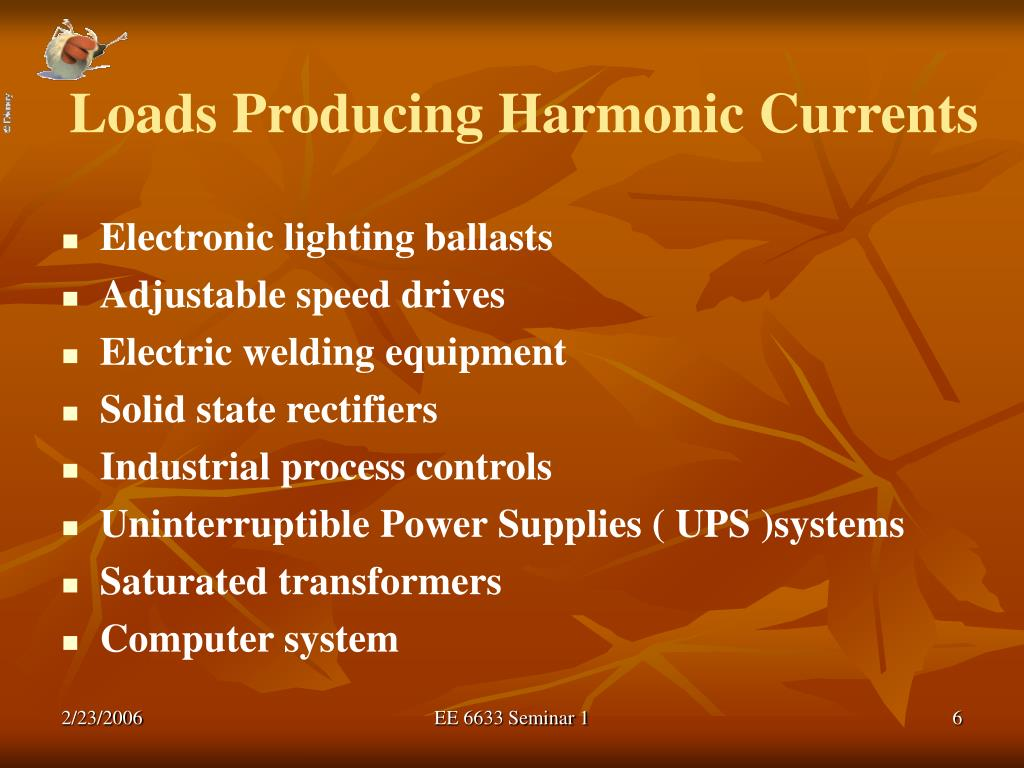 Loads Producing Harmonic Currents