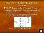 mitigation the effects of harmonics 1 cont d