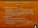 mitigation the effects of harmonics 1 cont d19