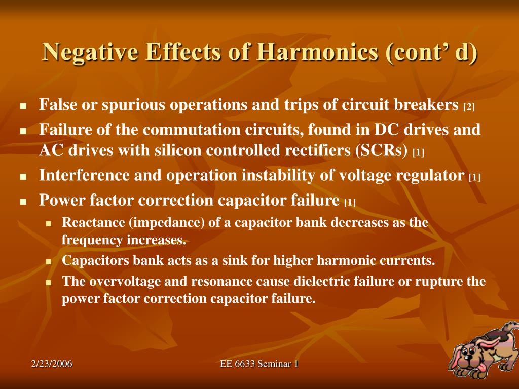 Negative Effects of Harmonics (cont' d)