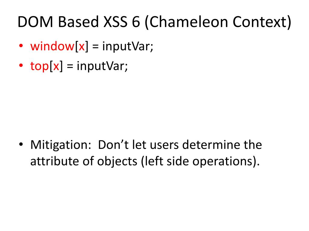 DOM Based XSS 6