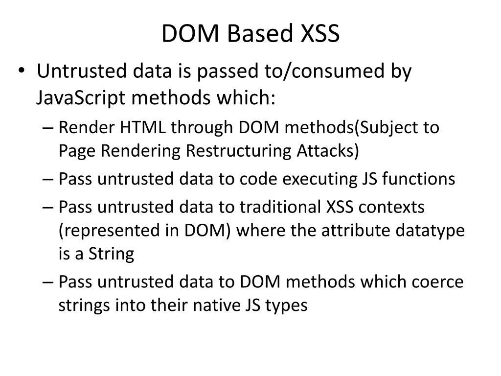 DOM Based