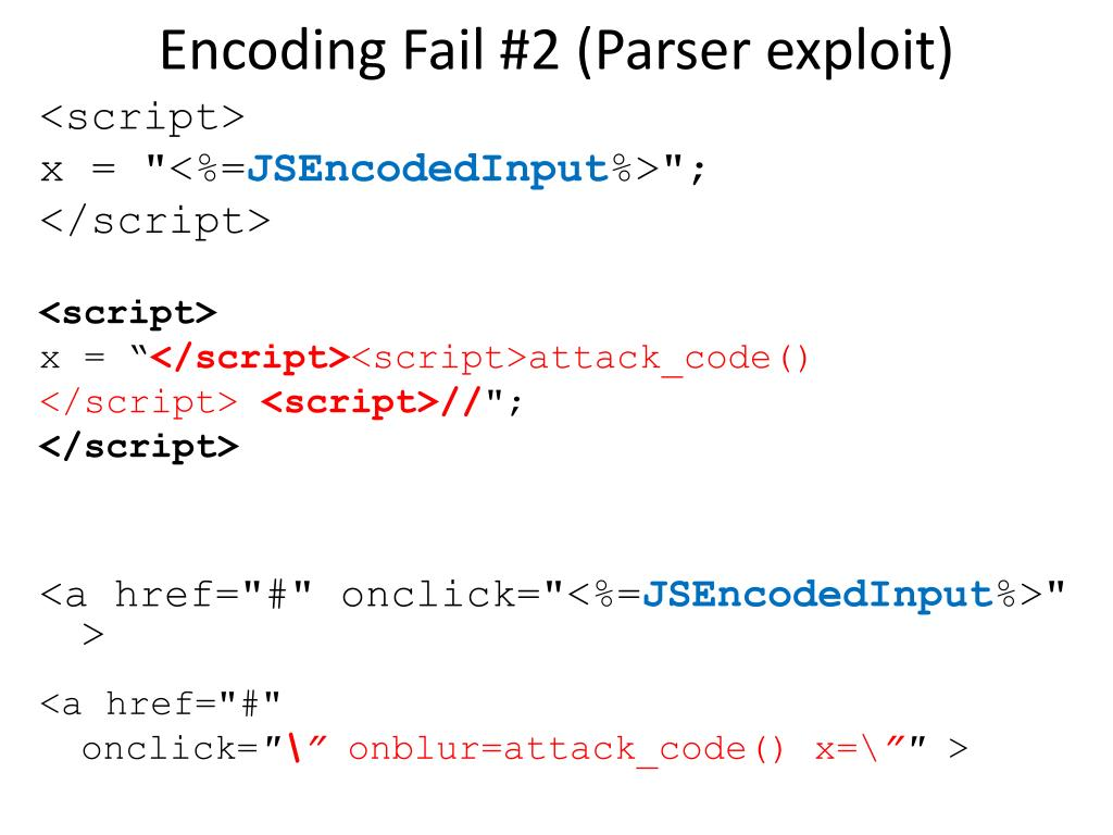 Encoding Fail #2 (Parser
