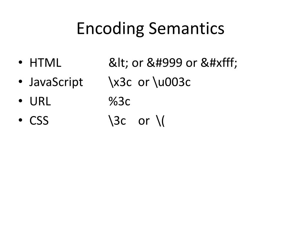Encoding Semantics