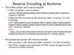 reverse encoding at runtime