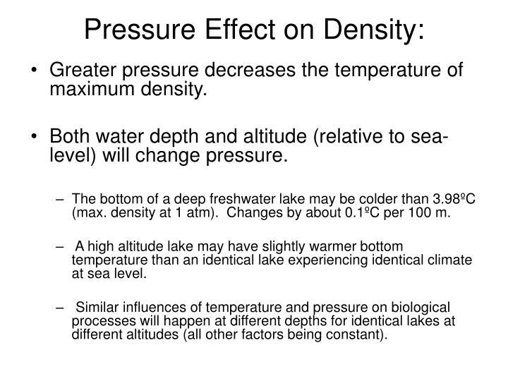 Pressure Effect on Density: