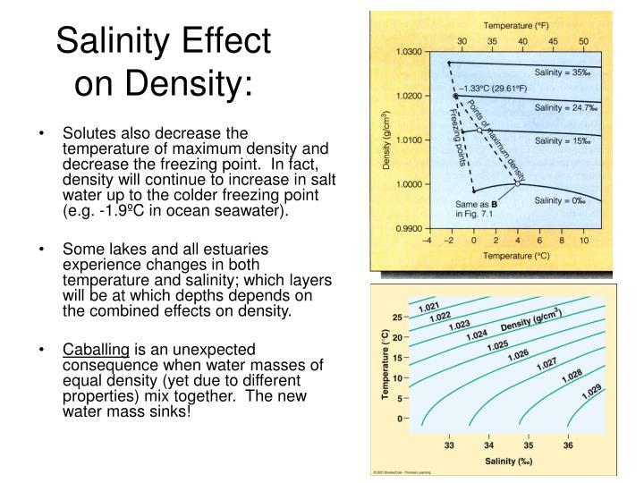 Salinity Effect on Density: