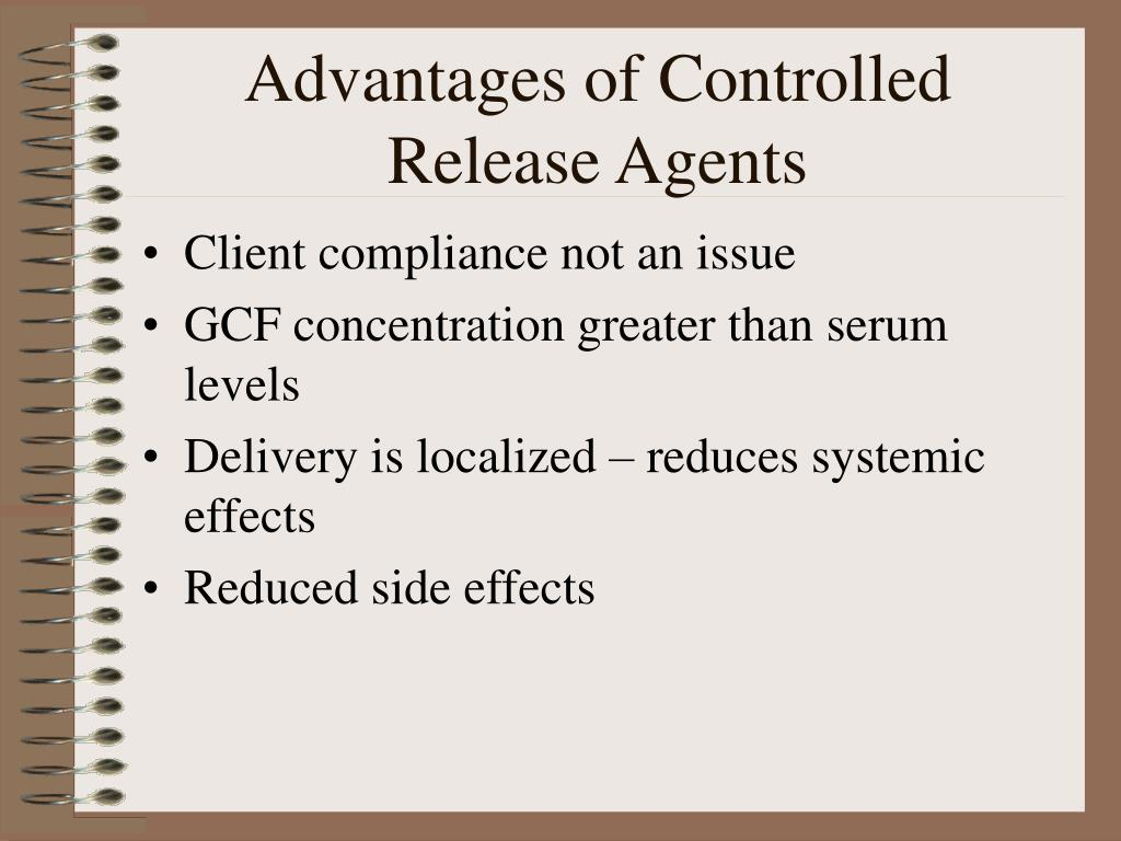 Advantages of Controlled Release Agents