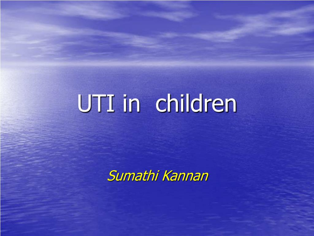 uti in children