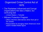 organized crime control act of 1970