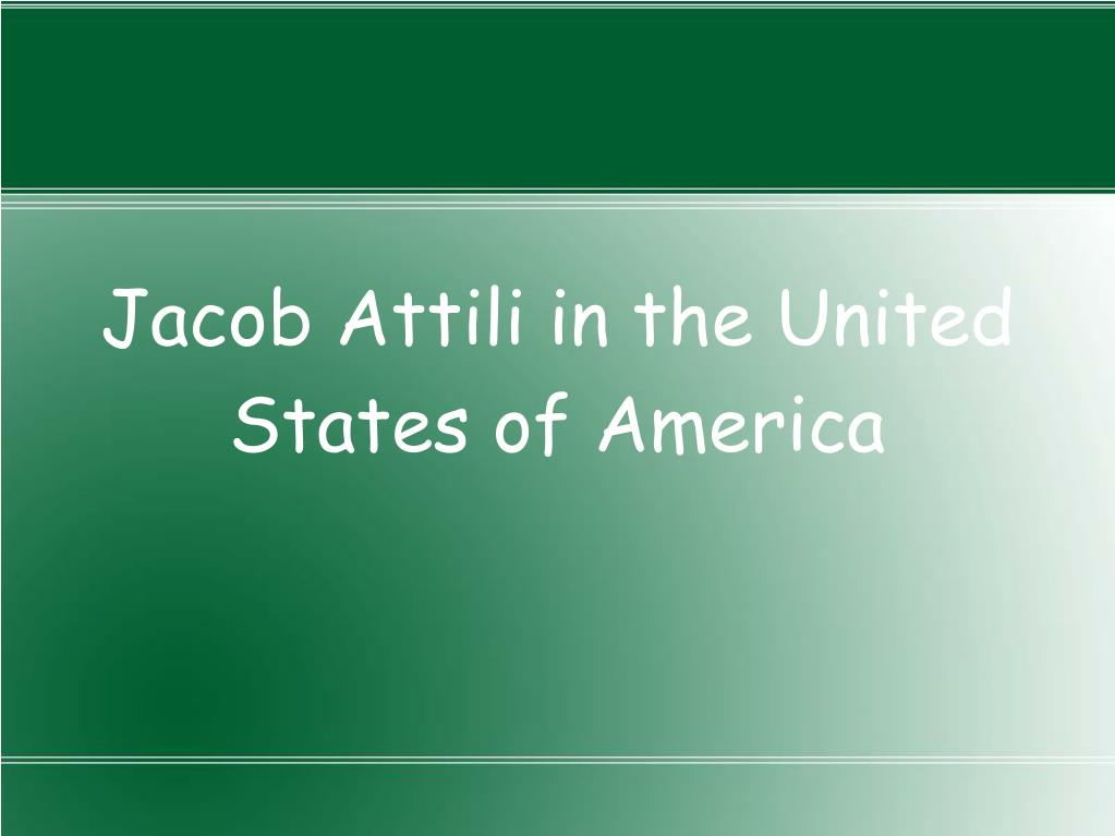 Jacob Attili in the United States of America