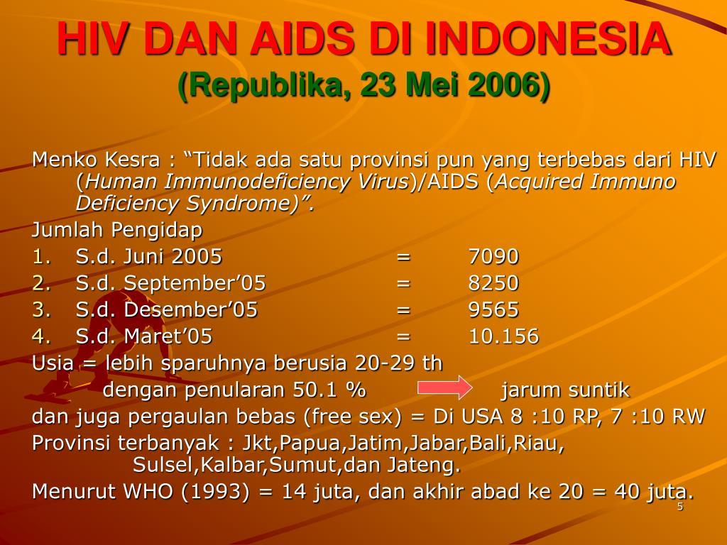 HIV DAN AIDS DI INDONESIA