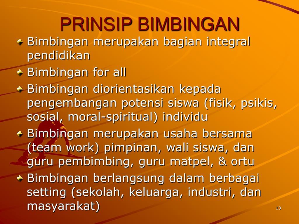 PRINSIP BIMBINGAN