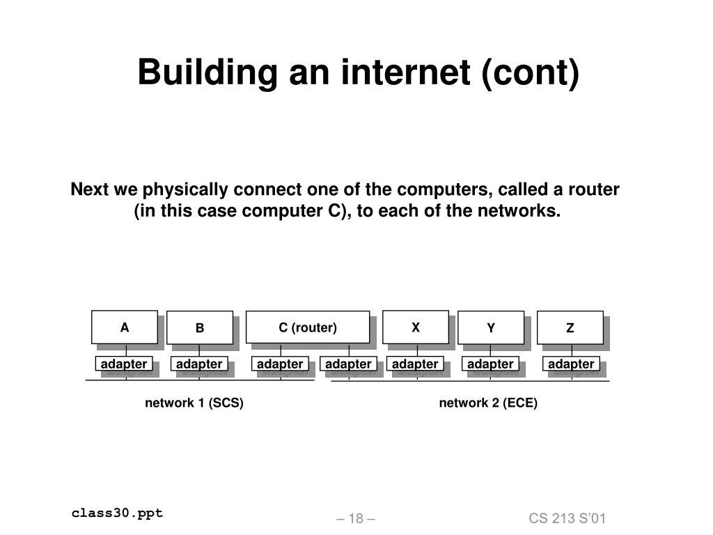 Building an internet (cont)