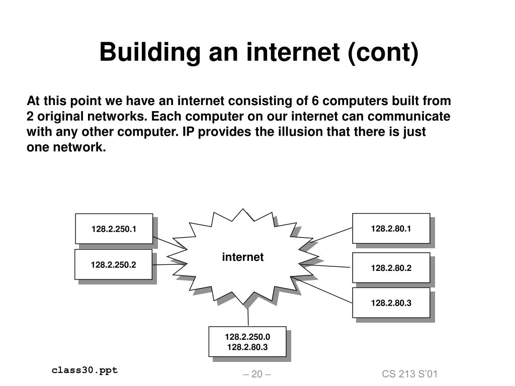 Building an internet (cont)