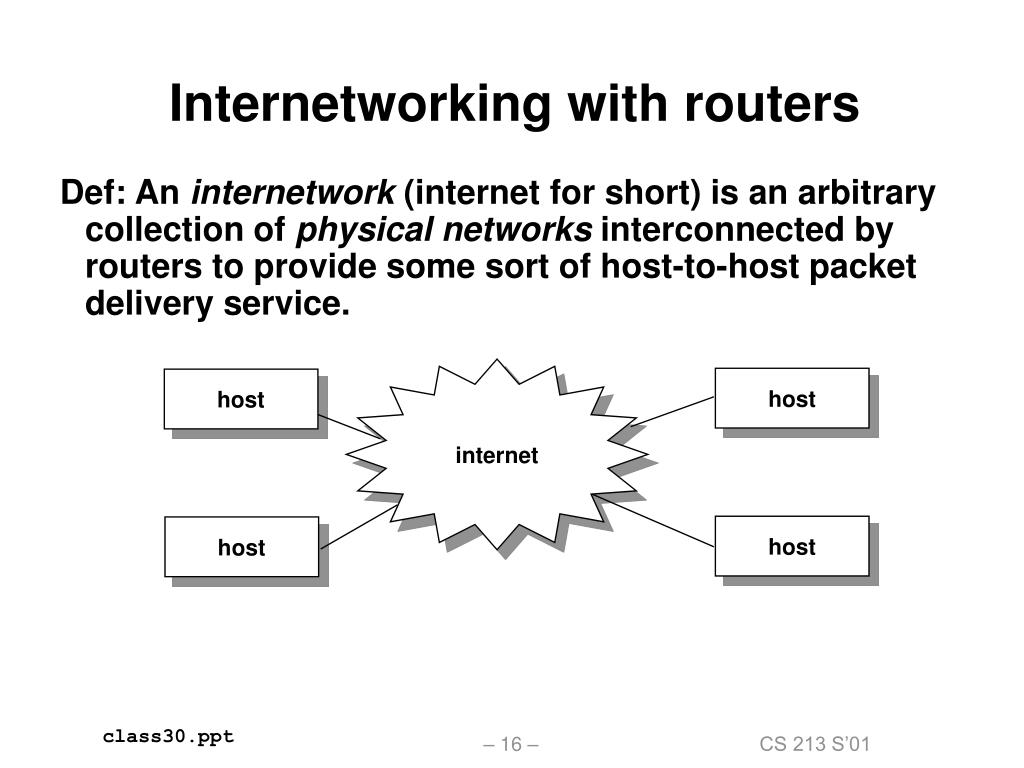 Internetworking with routers