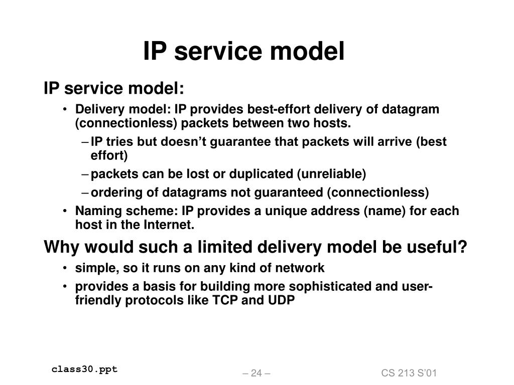 IP service model