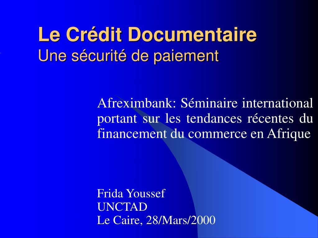 Le Crédit Documentaire