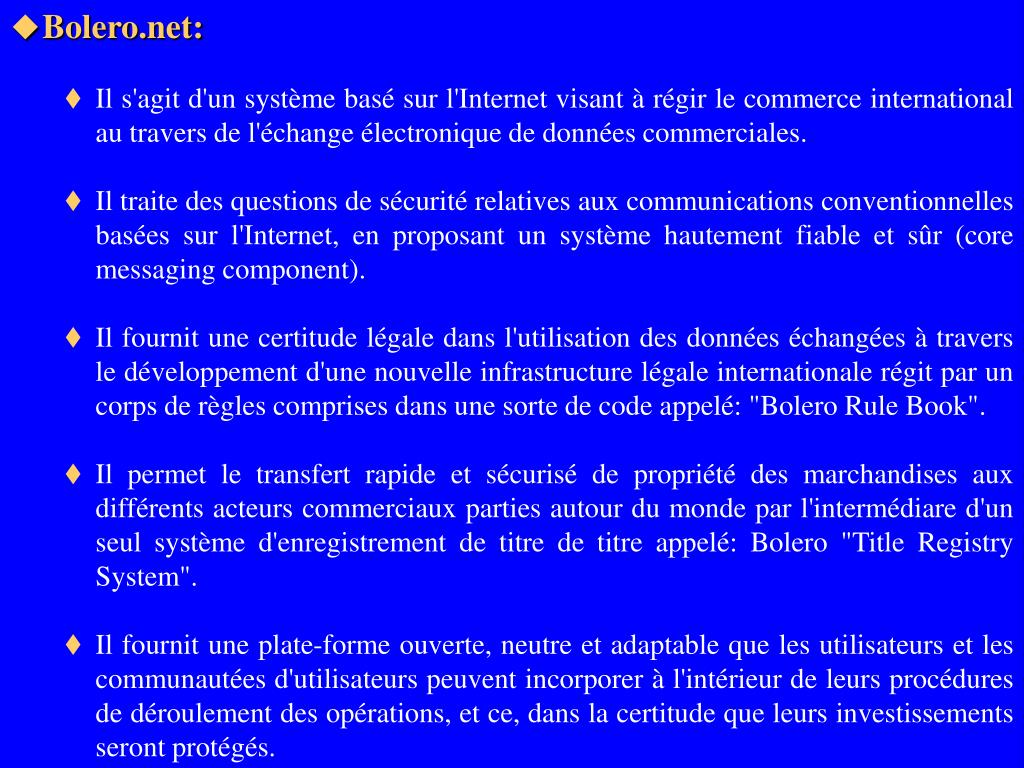 Bolero.net: