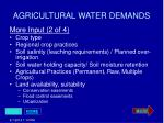 agricultural water demands31