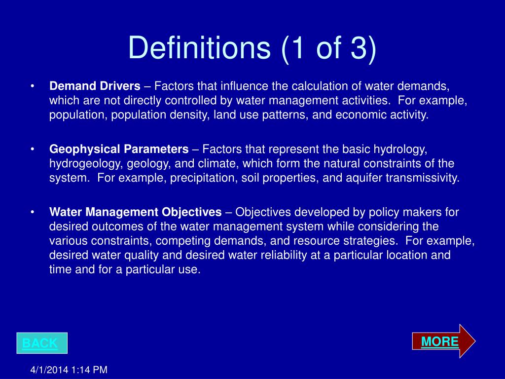 Definitions (1 of 3)