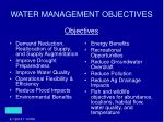water management objectives