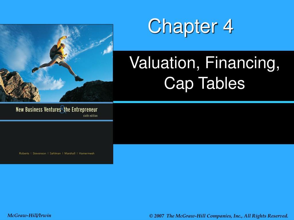 valuation financing cap tables