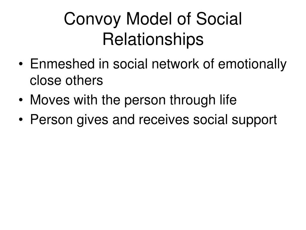 Convoy Model of Social Relationships