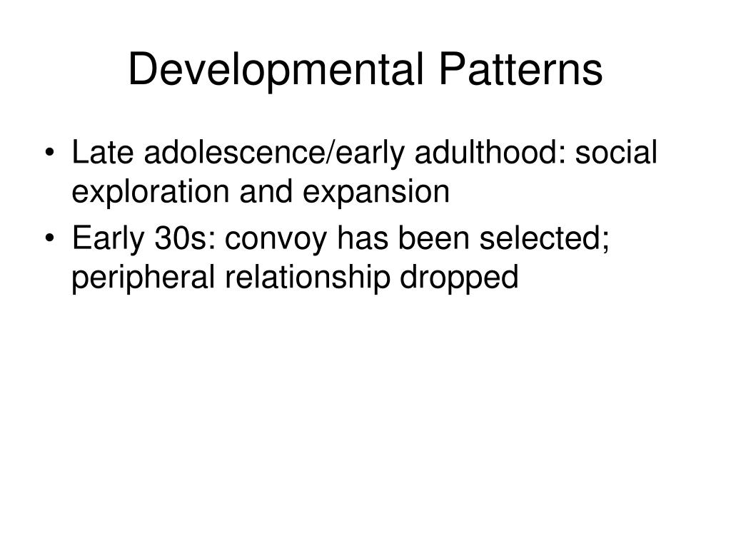 Developmental Patterns