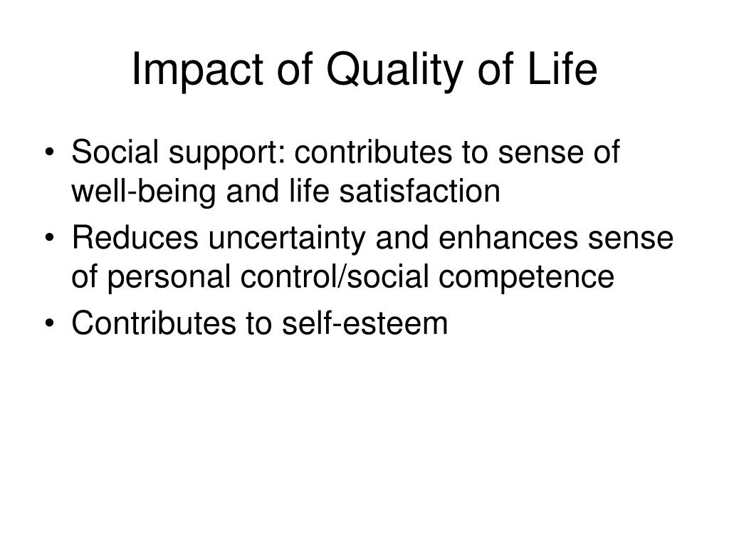 Impact of Quality of Life