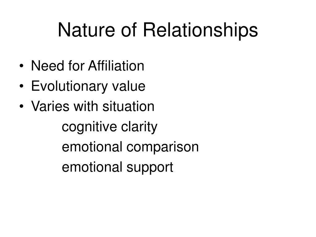 Nature of Relationships