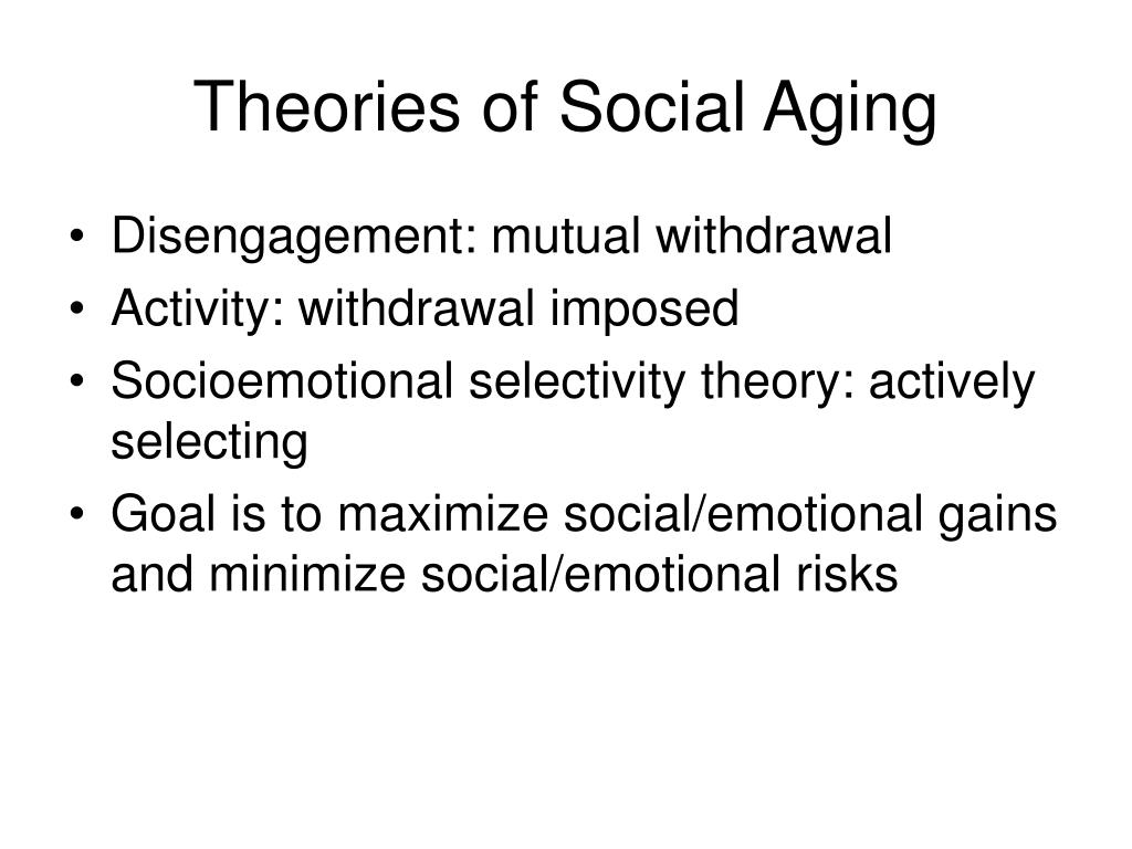 Theories of Social Aging