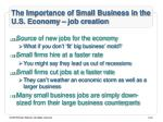 the importance of small business in the u s economy job creation