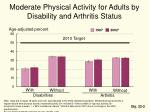 moderate physical activity for adults by disability and arthritis status