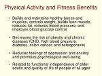 physical activity and fitness benefits