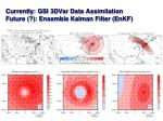 currently gsi 3dvar data assimilation future ensemble kalman filter enkf