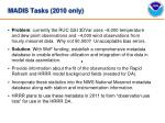 madis tasks 2010 only
