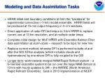 modeling and data assimilation tasks
