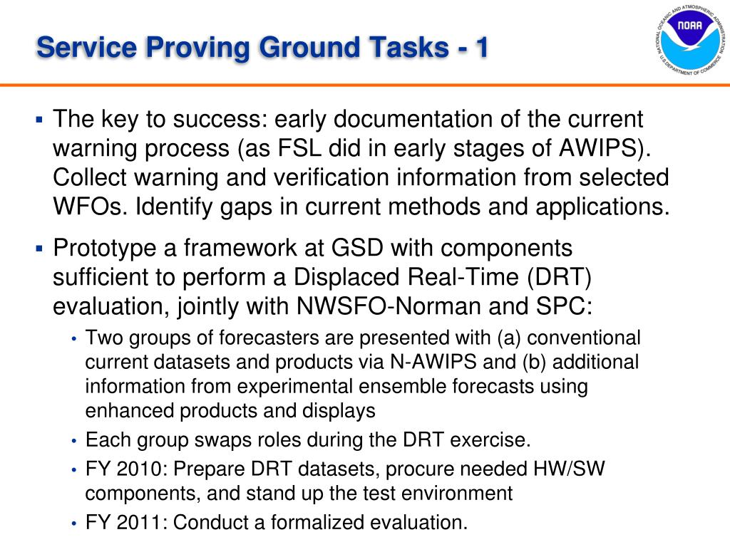Service Proving Ground Tasks - 1
