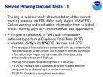 service proving ground tasks 1