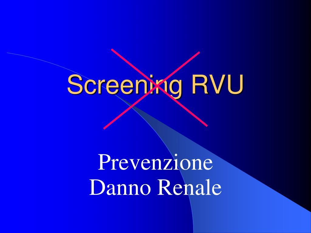 Screening RVU