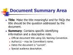 document summary area