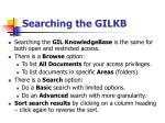 searching the gilkb