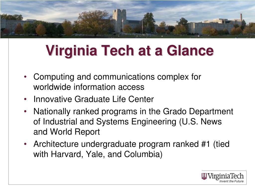 Virginia Tech at a Glance