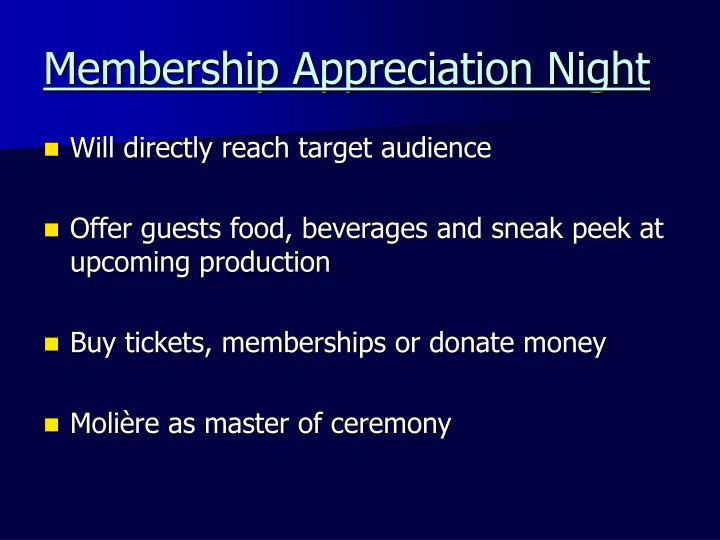 Membership Appreciation Night