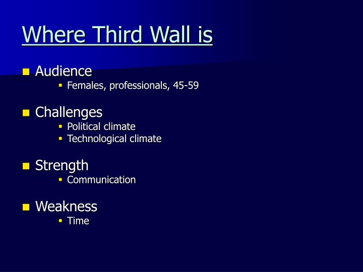 Where Third Wall is