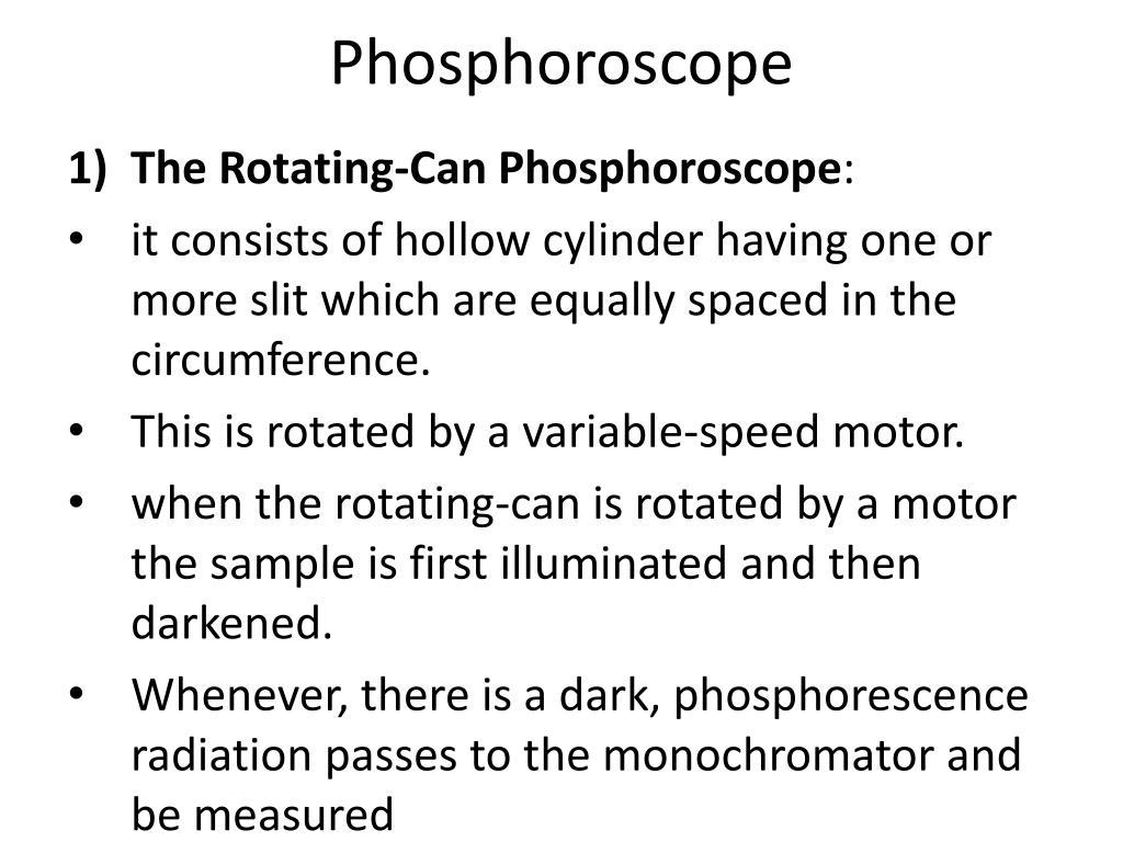Phosphoroscope
