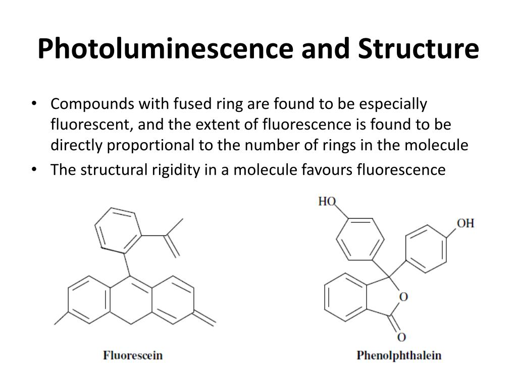 Photoluminescence and Structure