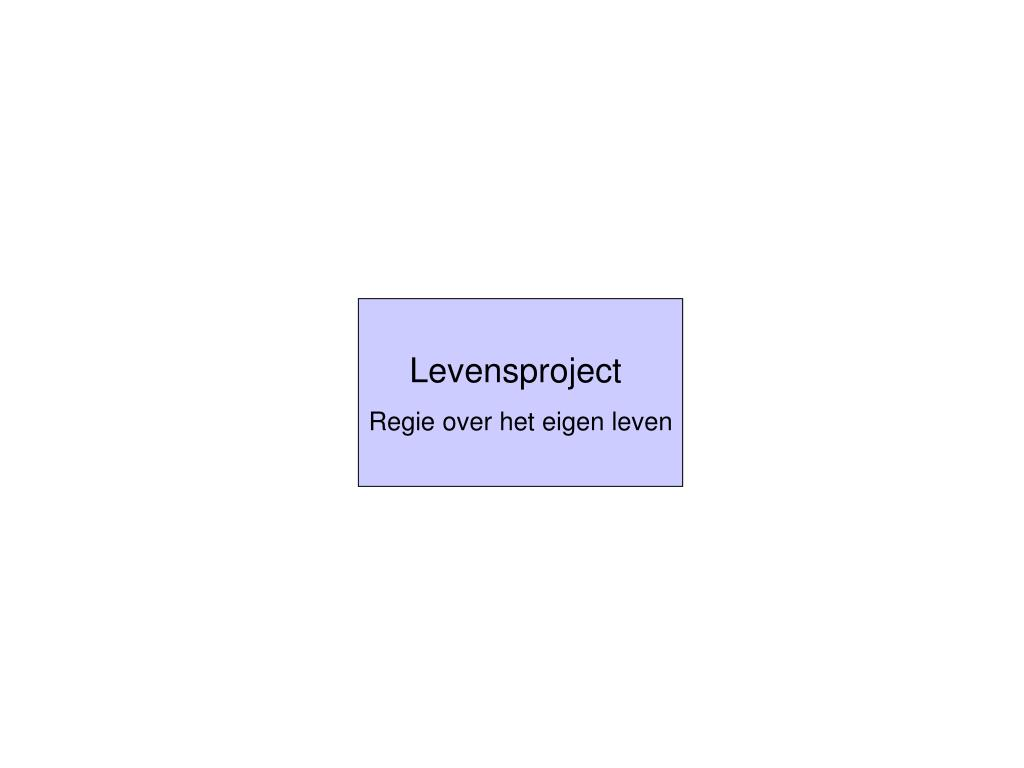 Levensproject